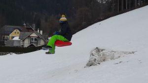 Wintersport: Bob fahren